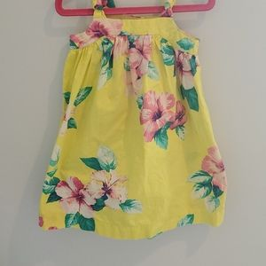 GAP Toddler Girl's Dress 2t Yellow Floral
